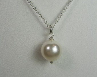 Bridesmaid Jewelry Set of 6 Swarovski Crystal Pearl Necklace ANY COLOR Bridesmaid Necklace Pearl Wedding Jewelry Bridesmaid Gift