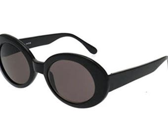 Black Smoked Oval Round Retro Clout Goggles Trendy
