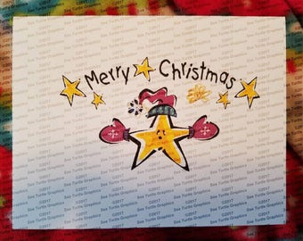 Tatted Notecards - Christmas Star