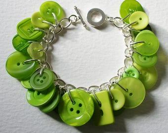 Button Bracelet Lime Citrus Mix