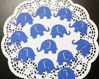 "Elephant Die Cuts Embellishments Confetti: Blue (Primary Cardstock) 2.08"" x 1.43"""