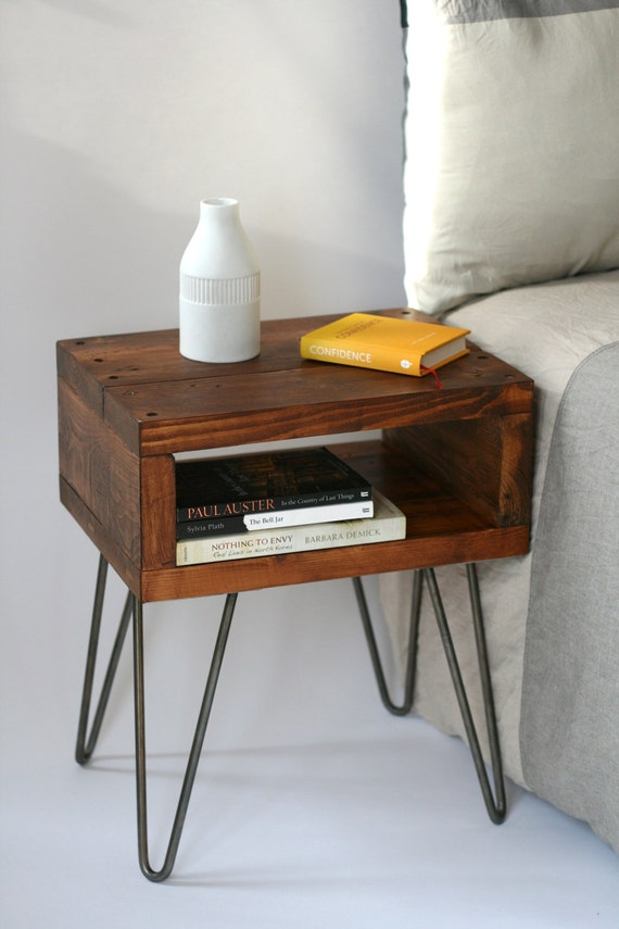 Favorite Sashi Bedside Table Teak finish handmade side table made YK88