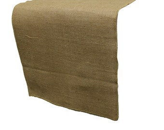 YCC Linen - 13 x 108 inches Jute Burlap Table Runner Natural | Wedding Table Runners