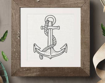 Anchor Embroidery Design - 7 sizes