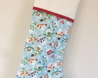 Christmas stocking - Jolly snowmen