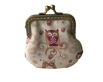 Handmade Owl Coin Purse Sister Gifts For Mom Gift For Her Owls