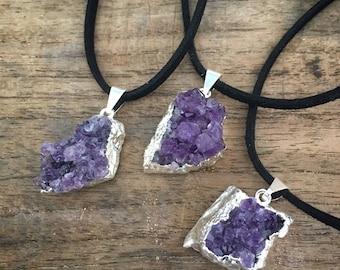 Amethyst Necklace, Amethyst Jewelry, Purple Gemstone, February Birthstone, Amethyst Pendant, Crystal Necklace, Crystal Jewelry, Boho Jewelry