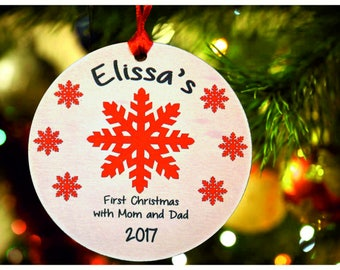 Baby's First Christmas ornament ,Personalized christmas tree ornament, tree ornament , Baby's christmas tree Ornament, christmas gift (Ch4)