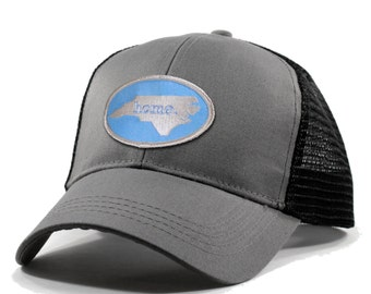 Homeland Tees North Carolina Home Trucker Hat - Carolina Blue Patch