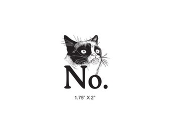 Grumpy Cat Says No Rubber Stamp 499