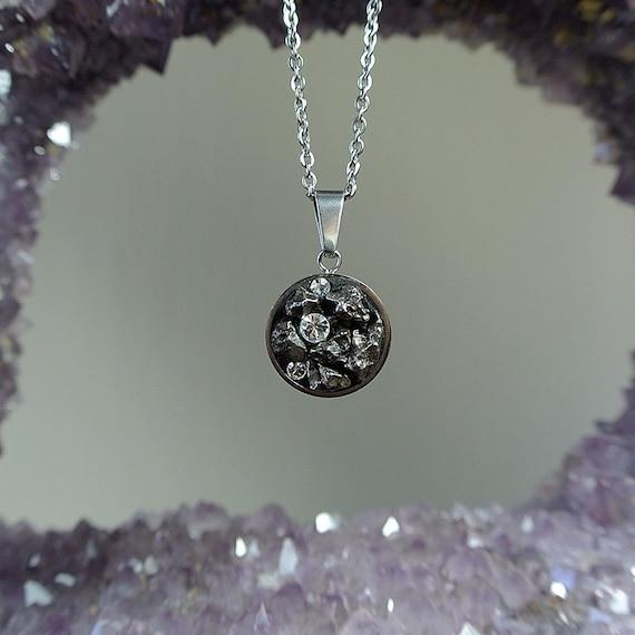 Real meteorite pendant shooting star necklace galaxy te gusta este artculo aloadofball Image collections