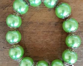 Chunky Bright Green Bracelet