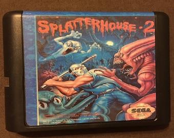 Splatterhouse 2 Fan Made Custom Sega Genesis Game. 16 bit