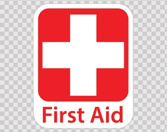 Decals Decal medical Emergency First Aid Kit Safety 80132