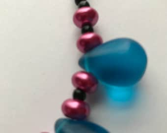 Necklace - Big Blue Drops