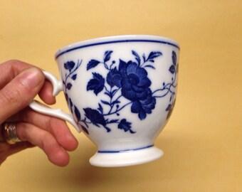 Royal Meissen China floral blue teacup fine china vintage japan ~7 ounces