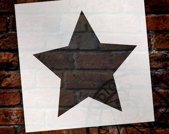 Simple Single Star - Art Stencil - Select Size - STCL1259 by StudioR12