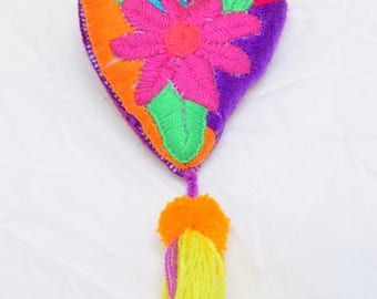Handmade Heart Keychains or Bag Charm from Chiapas, Mexico