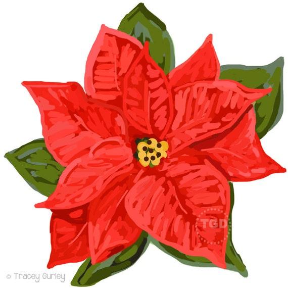 red poinsettia clip art poinsettia clipart holiday clipart rh etsy com Christmas Wreath Clip Art christmas poinsettia clip art free