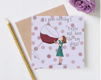 funny birthday card-wine-prosecco-champagne-red wine-birthday card-birthday cards-happy birthday card-birthday cards-funny cards-purple