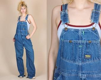 90s Osh Kosh Overalls - Mens Large // Vintage Denim Bib Overall Pants Dungarees