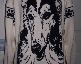 Custom Knit Borzoi Russian Wolfhound Sweater ****Create your own sweater see below*****