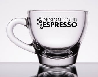 Personalized Glass Espresso Cup & Saucer