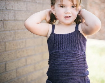 Knit Look Tank Crochet Pattern No. 12