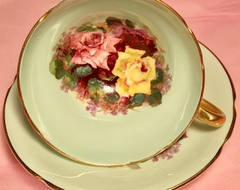 Pretty Pink Addiction-Stanley Roses Teacup and Saucer
