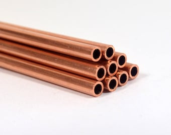 24ga Copper Tubing - 12 Inch Lengths - Choose Your Quantity