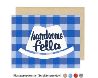 Handsome Fella Illustrated Greeting Card