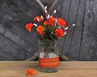 Bulleit Original Bourbon Centerpiece, Utensil Holder, Vase, Ice Bucket, Craft Supply, Desk Organizer, Mother's Day Gift