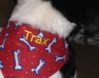Personalized Dog Bandana - Over the collar