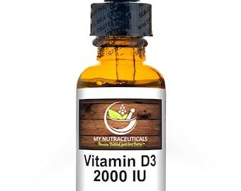 "MyNutraceuticals ""VITAMIN D3"" Cholecalciferol 2,000 IU / Dietary Supplement FREE Shipping!"