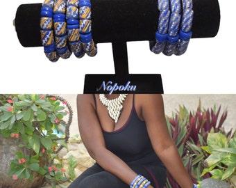 Krobo bead bracelet,African Bracelet, Trade Beads, blue bracelet,Jewelry,  African Jewelry,stackable bracelet,Boho,Handmade, Gift,Artisan,