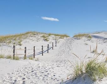 Coastal Wall Art - Beach Fence Print - Beach Path Photo - Sand Dunes - Coastal Decor Print - Beach Photography 'Island Beach Stroll #4'