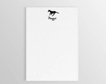 Horse Notepad ~ Custom Notepad ~ Custom Notepad ~ Teacher Notepad ~ Gift for Mom ~ To Do List Notepad ~ Personalized Notepad