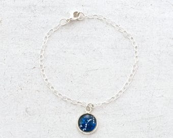 Zodiac Bracelet, Constellation Bracelet, Zodiac Jewelry, Astrology Bracelet, Horoscope Bracelet, Birthday Gift, Charm Bracelet