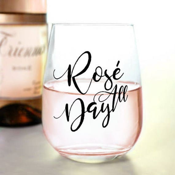 Rosé All Day Stemless Wine Glass 17oz