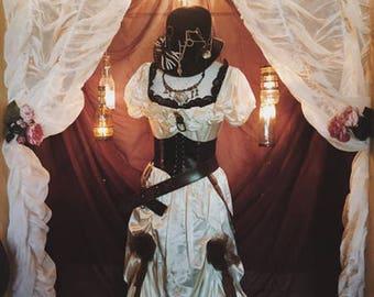 Vintage Wedding Dress Upcycled Wedding Dress, Steam Punk Wedding Dress SZ 9