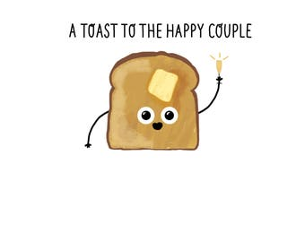 A Toast To The Happy Couple Card