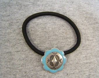 Father's Day Gift! Ponytail Holder, Hair Elastic, Hair Ties, Silver, Antique, Coral, Turquoise, Jewelry, #80432, On Sale! Free Shipping*!