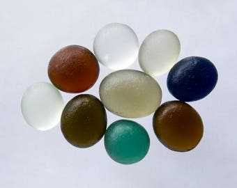 EnglishSea glass - Bubble Buttons -  Lot  DC1048