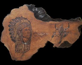 Indian Chief Clock