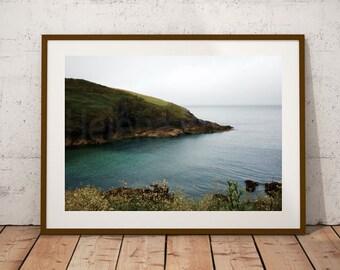Green Wall Art, Green Wall Decor, Green Artwork, Cornish Landscapes, Cornish Photography, Cornish Decor, Salon Home Decor, Salon Pictures