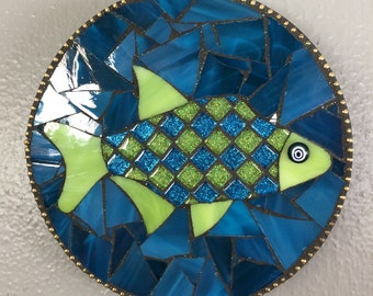 Buntglas-Mosaik-Fische