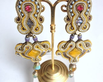 Earrings clips trimmings Dori Csengeri, authentic, vintage but new, french jewelry, accessories fashionista