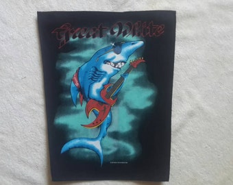 1987 Dead Stock Great White Back Patch. Backpatch