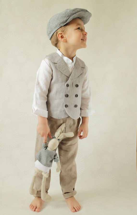 Ring bearer outfit Wedding party outfit Toddler boy vest and