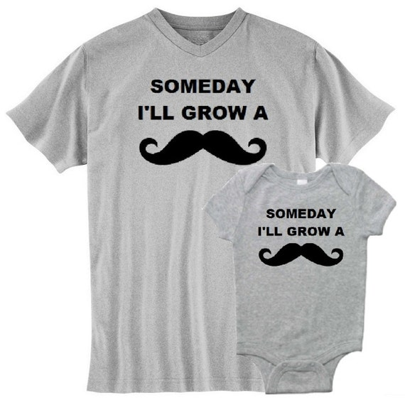 Mustache Moustache New Dad T Shirt And Matching Infant
